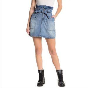 Free People Splendor In The Grass Denim Skirt